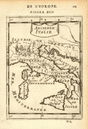 ANCIENT ITALY. Decorative. 'Ancienne Italie'. MALLET 1683 old antique map
